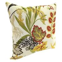 Jordan Outdoor Square Toss Pillow - Red/Green Tropical