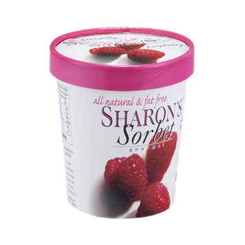 Sharon's Gourmet Sorbet Raspberry All Natural & Fat Free