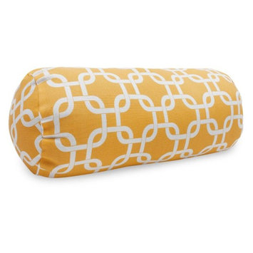 Majestic Home Goods 1 Yellow Links Uv Protected Outdoor Accent Pillow