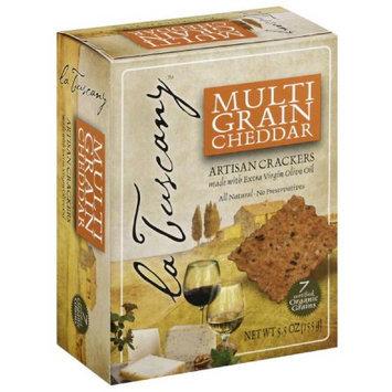 La Tuscany Multi Grain Cheddar Artisan Crackers, 5.5 oz, (Pack of 6)