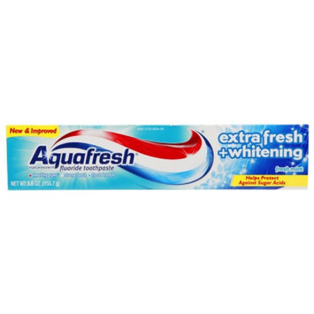 Aquafresh Extra Fresh + Whitening Fluoride Toothpaste, Fresh Mint, 5.6 oz