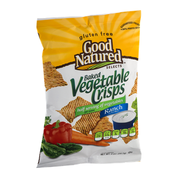 Good Natured Selects Gluten Free Baked Vegetable Crisps Ranch Flavored