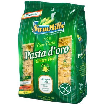 Sam Mills Gluten Free Pasta D'Oro, Lasagne Corte, 16-Ounce Bags (Pack of 12)