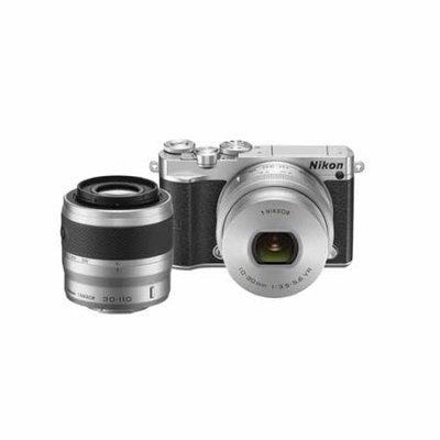 Nikon 1 J5 Digital Camera w/ NIKKOR 10-30mm Zoom Lens & NIKKOR 30-110mm Lens - Silver