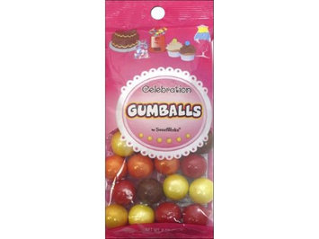 SweetWorks Confections SWW75004 Gumballs 8 Oz. Autumn Mix - Pack Of 3