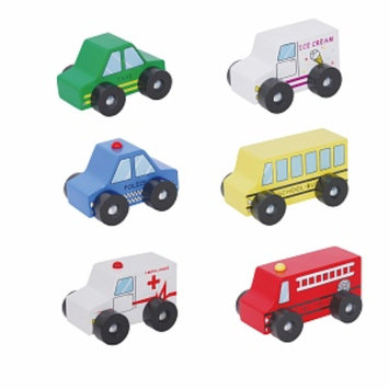 Discoveroo Six Piece Wooden Car Set Ages 18 Months+, 1 ea
