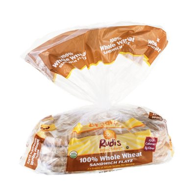 Rudi's Organic Bakery Sandwich Flatz 100% Whole Wheat Organic - 8 CT
