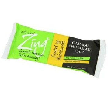 Zing Bars Zing Oatmeal Chocolate Chip Nutrition Bar, 1.76-ounce Bars (Box of 12)