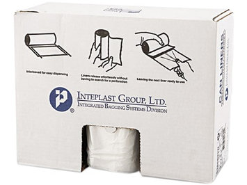 Inteplast Group IBS S386022N High Density Commercial Can Liners 38x60 22 Mic Natural