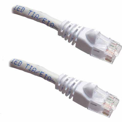 Professional Cable 14' Gigabit Ethernet UTP Cable with Boots, White