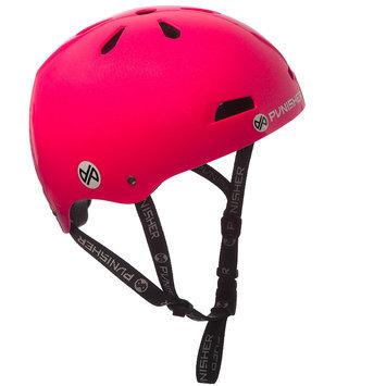 Punisher Skateboards 13-vent Neon Hot Pink Youth BMX/ Skateboard Helmet