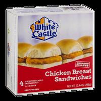 White Castle Chicken Breast Sandwiches - 4 CT