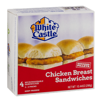 White Castle Chicken Breast Sandwiches - 4 CT