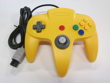 Nintendo N64 Yellow Replacement Controller by Mars Devices