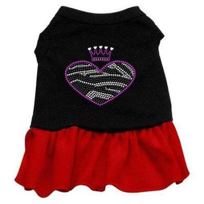 Ahi Zebra Heart Rhinestone Dress Black with Red XL (16)