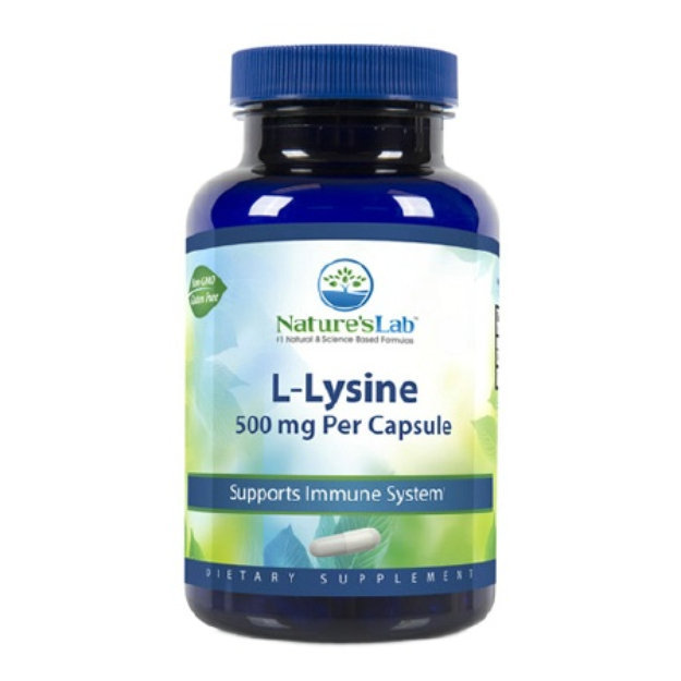 Nature's Lab L-Lysine, 500mg, Capsules