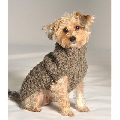 Chilly Dog Grey Cable Dog Sweater, Small