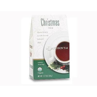 Davidson's Tea Davidson Organic Tea 2086 Holiday Trad Christmas Tea, 18 Ct.