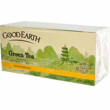 Good Earth Green Tea Lemongrass Blend 25 Tea Bags