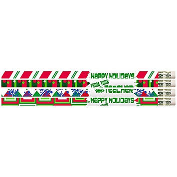 Musgrave Pencil Co Inc MUS2519D 12Pk Happy Holidays From Your Teacher Pencils