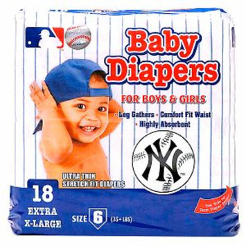 Braco Manufacturing New York Yankees Supreme Disposable Diapers, Size 6, 1 ea