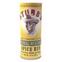 Stubbs Stubb's Herbal Mustard Spice Rub Great on Pork Chicken and Veggies 3.5 Oz. (1 Each)