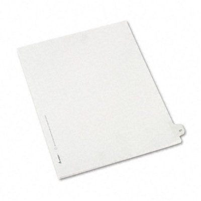 Avery Allstate-Style Legal Side Tab Divider, Title: 27, Letter, White, 25/Pack