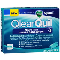 QlearQuil™ Nighttime Sinus & Congestion Relief LiquiCaps™