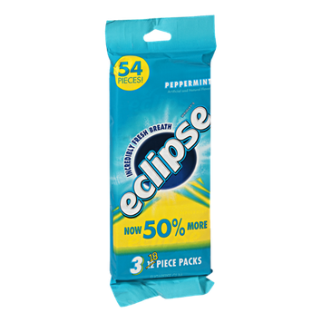 Eclipse Sugarfree Gum Peppermint - 54 Pieces