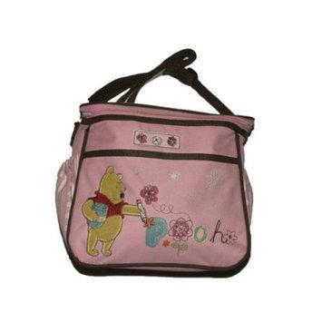 Disney Pooh & Friends Zip Top Pockets Flowers Girls Pink Mini Diaper Bags