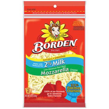 Borden 2% Milk Mozzarella Shredded Cheese, 8 oz