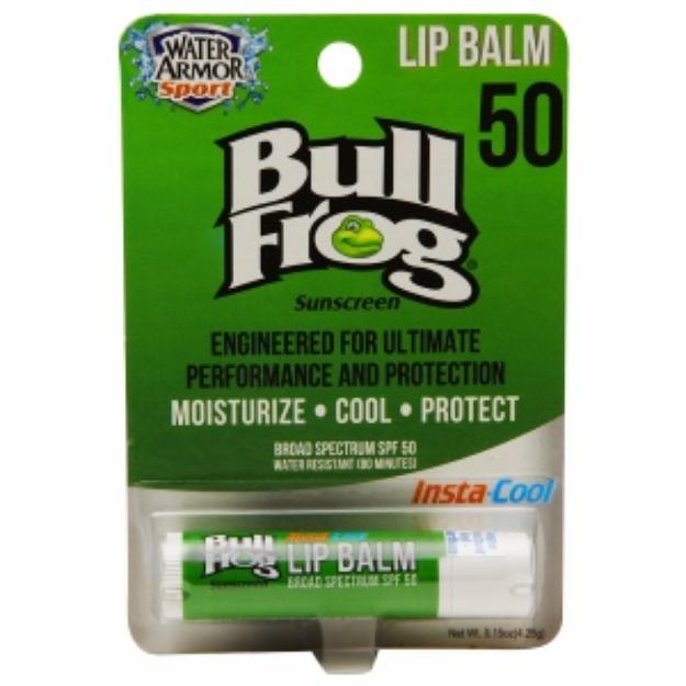 Bull Frog Water Armor Sport Insta-Cool Lip Balm, SPF50, .15 oz