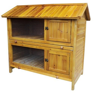 Sportsman PPHUTCH2 Indoor/Outdoor Two Story Premium Wood Pet Hutch