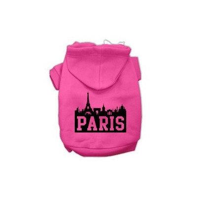 Mirage Pet Products Paris Skyline Screen Print Pet Hoodies Bright Pink Size XS (8)