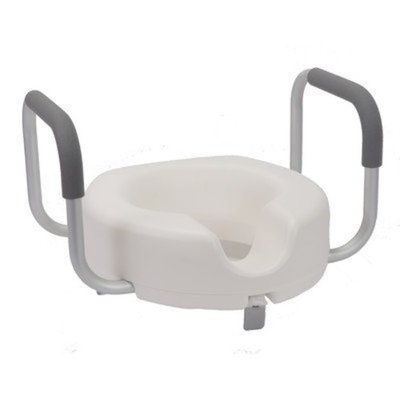 Revolution Mobility Raised Toilet Seat, Locking w/Arms or Extra Safety (REMBA-431)