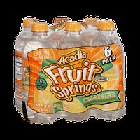 Acadia Fruit Springs Orange Naturally Flavored Spring Water Beverage- 6 PK