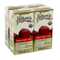 Nature's Promise Organics Organic Apple Juice Boxes 4 Pack