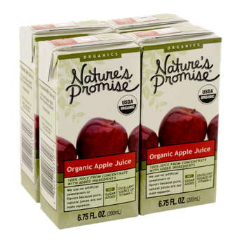 Nature's Promise Organics Organic Apple Juice Boxes 4 Pack