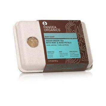 Pangea Organics Indian Green Tea with Mint & Rose Petals Bar Soap