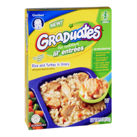 Gerber Graduates for Toddlers Lil' Entrees Rice and Turkey in Gravy