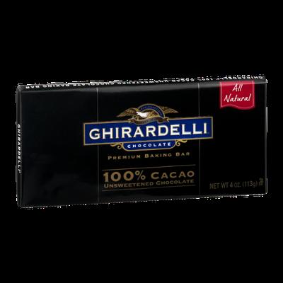Ghirardelli Premium Baking Bar 100% Cacao Unsweetened Chocolate