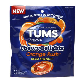 Tums Chewy Delights, Orange Rush, 32 ea