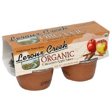 Leroux Creek LeRoux Cree Organic Apple & Cinnamon Sauce, 4-Ounce, 4-Count Cups (Pack of 6)