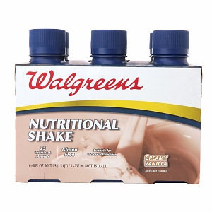 Walgreens Nutritional Shakes 8oz 6 Pack