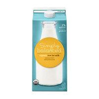 Simply Balanced Organic 1% Low Fat Milk .5 gal