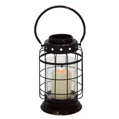 Uma Metal Glass Lantern 8w, 15h