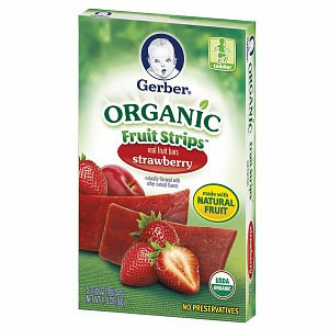 Gerber® Organic Fruit Strips Strawberry