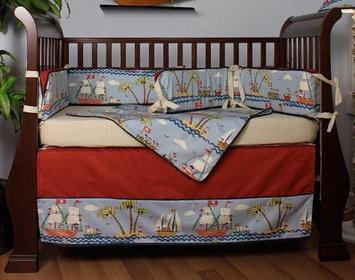 Hoohobbers Ahoy! 4 Piece Crib Bedding Set