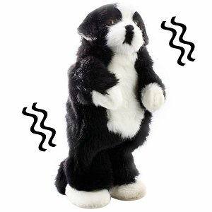 Party Animals Black and White Dog Dancing Pet Speaker