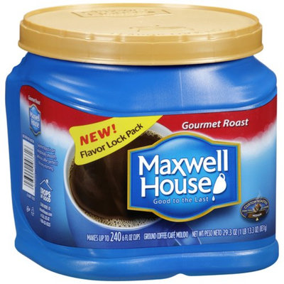 Maxwell House Ground Coffee, Gourmet Roast, 29.3 oz